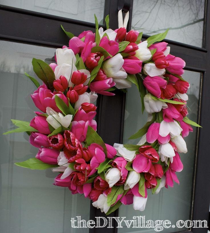 Tulip-Door-Wreath