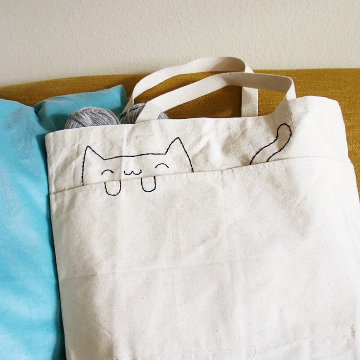 Embroidered-Cat-Tote-Bag