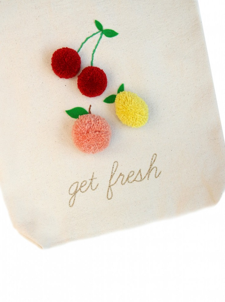 Fruit-Pom-Poms-Tote-Bag