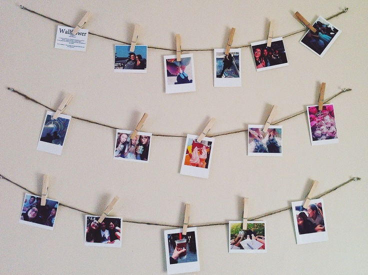 Top 9 Ways to Decorate with Polaroid Display - Top Inspired
