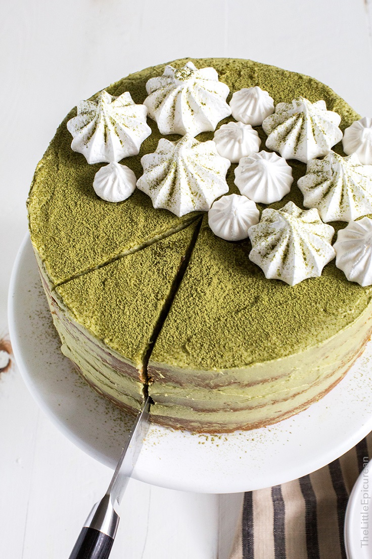 Matcha-Red-Bean-Cake