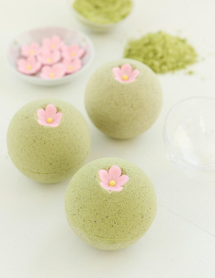 Sakura-Green-Tea-Bath-Bombs