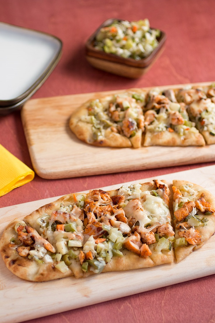 Salmon-Flatbread-Pizza
