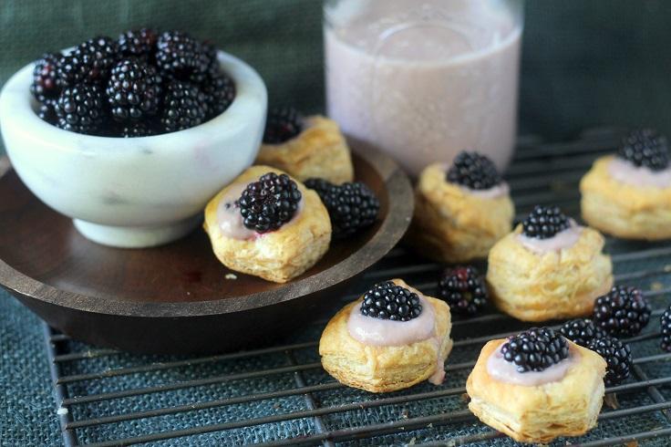 Blackberry-and-Almond-Custard-Cups