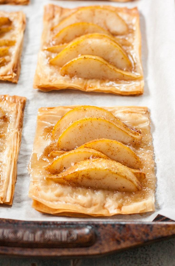 Pear-and-Honey-Phyllo-Tarts