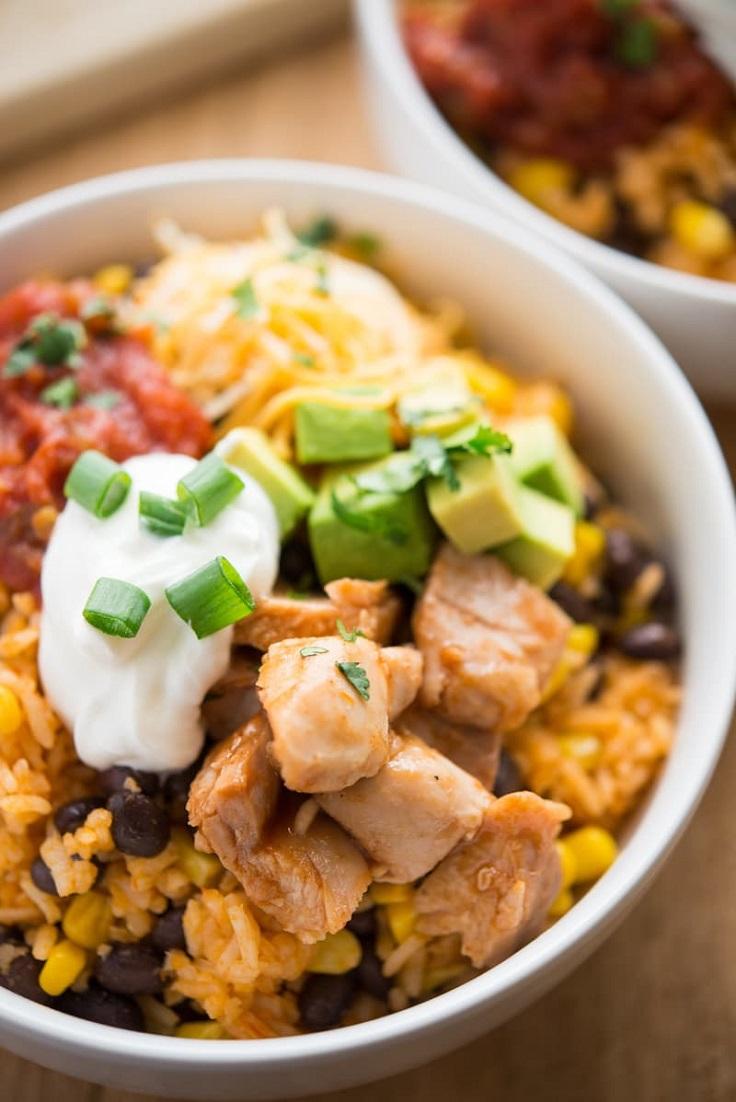 One-Pan-BBQ-Chicken-Burrito-Bowl