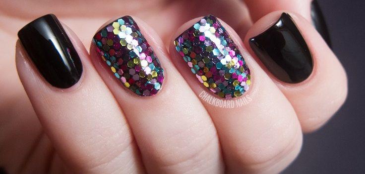 Top 10 Super Easy Glittery Nail Art Ideas