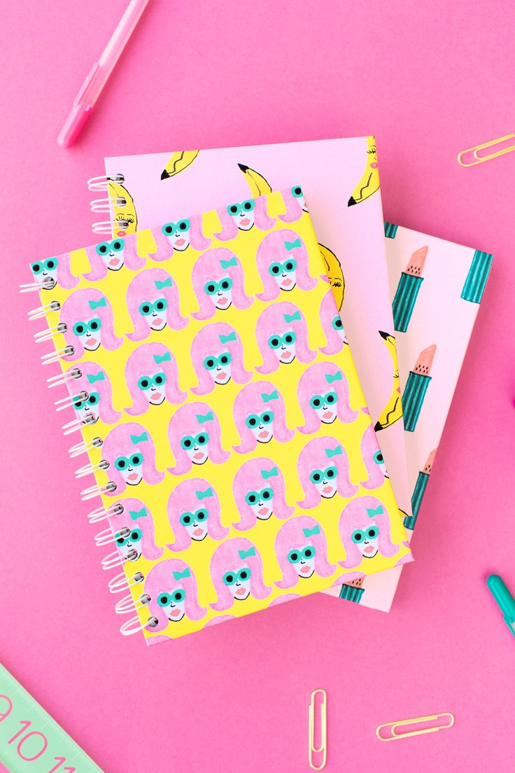 Children Note Book Cover : Top diy back to school notebooks for your children