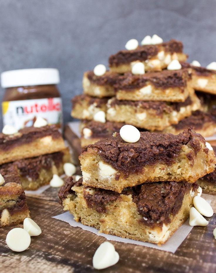 Nutella-Cream-Cheese-Blondies