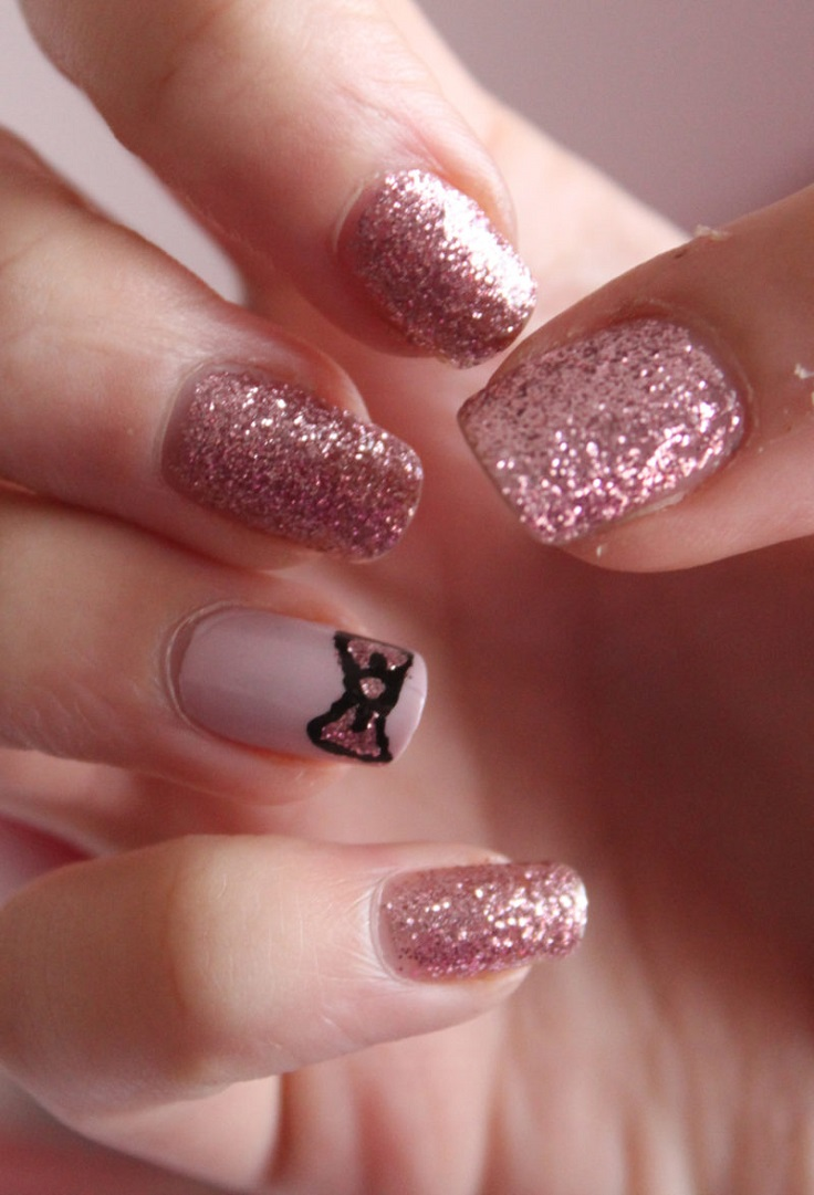 Rose-Glitter
