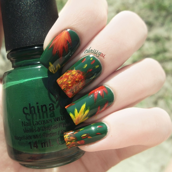 Prettyfulz Fall Nail Art Design 2011: Top 10 Nail Art Designs Inspired By Fall