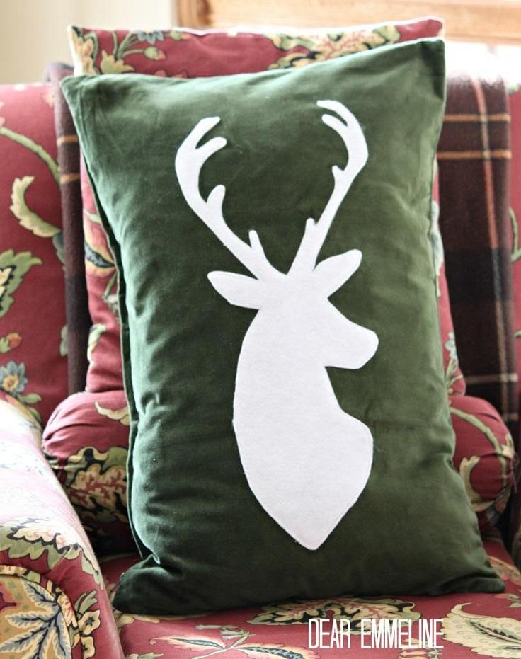Deer-Silhouette-Pillow