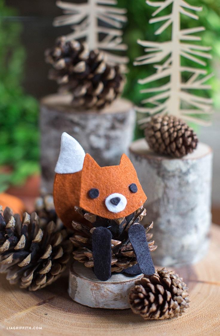 Felt-Pinecone-Fox