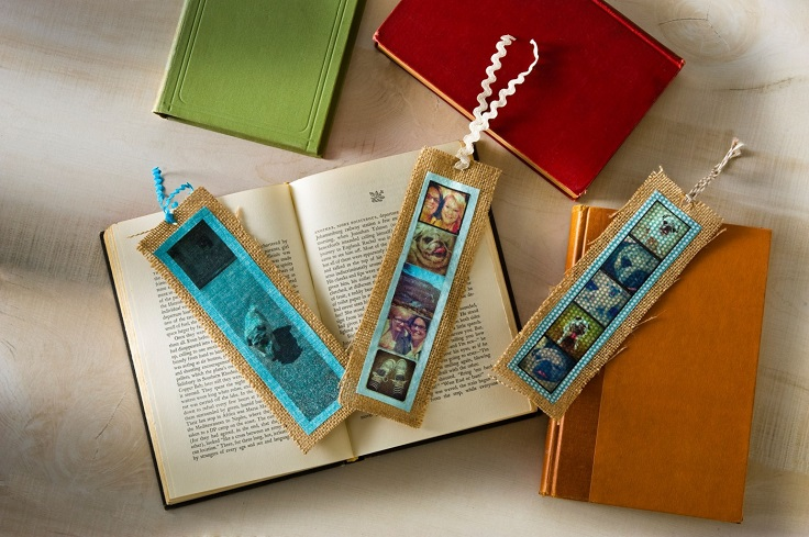 Burlap-Bookmark