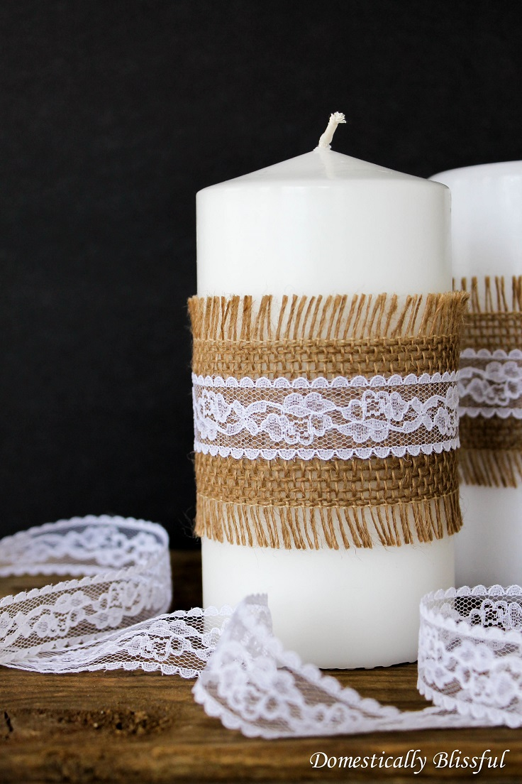 Burlap-and-Lace-Candles