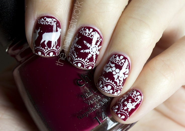 Cute Nail Art Designs For Winter Splendid Wedding Company