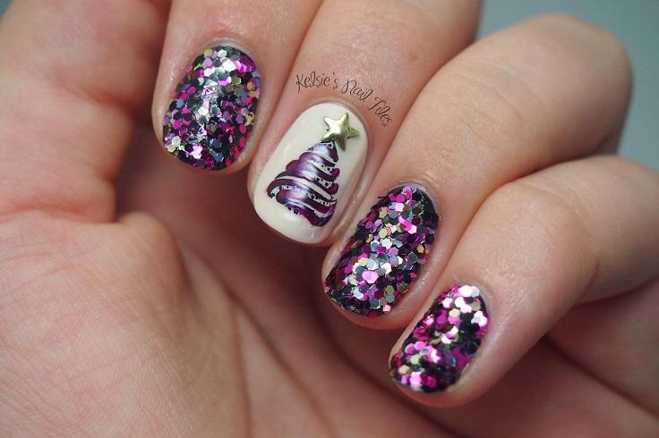 Christmas-Tree-Nail-Art