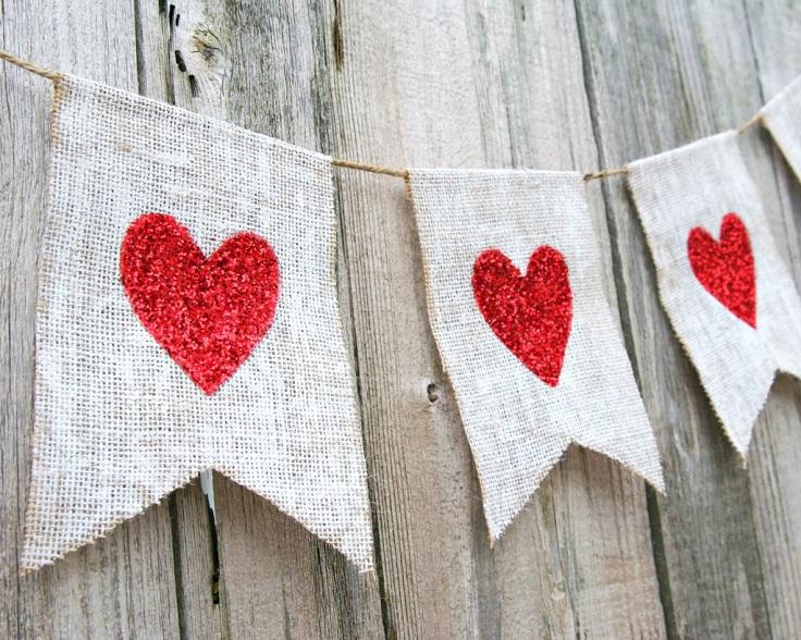 Glitter-Heart-Banner