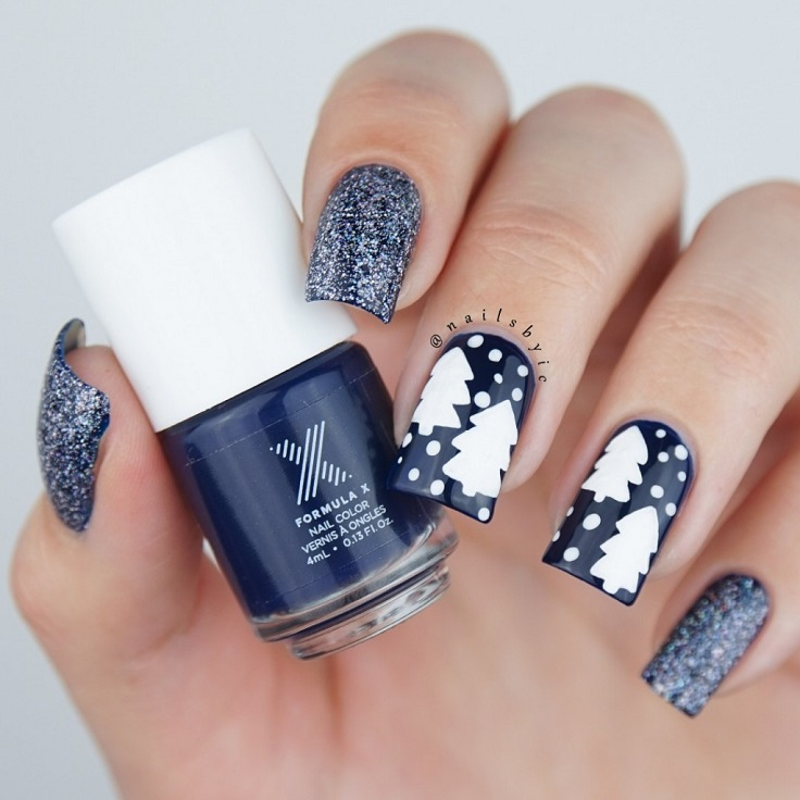 Glittery-Winter-Nail-Art