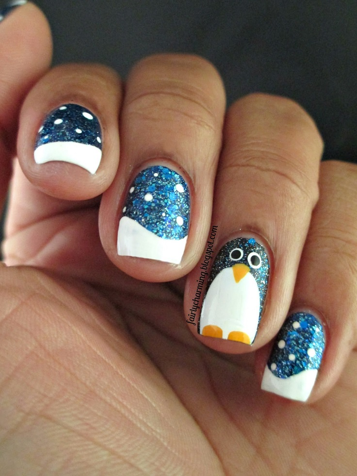 Top 10 Cutest Winter - Inspired Nail Art Ideas