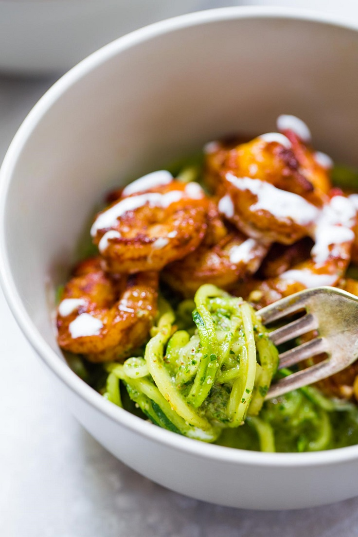Spicy-Shrimp-with-Pesto-Noodles