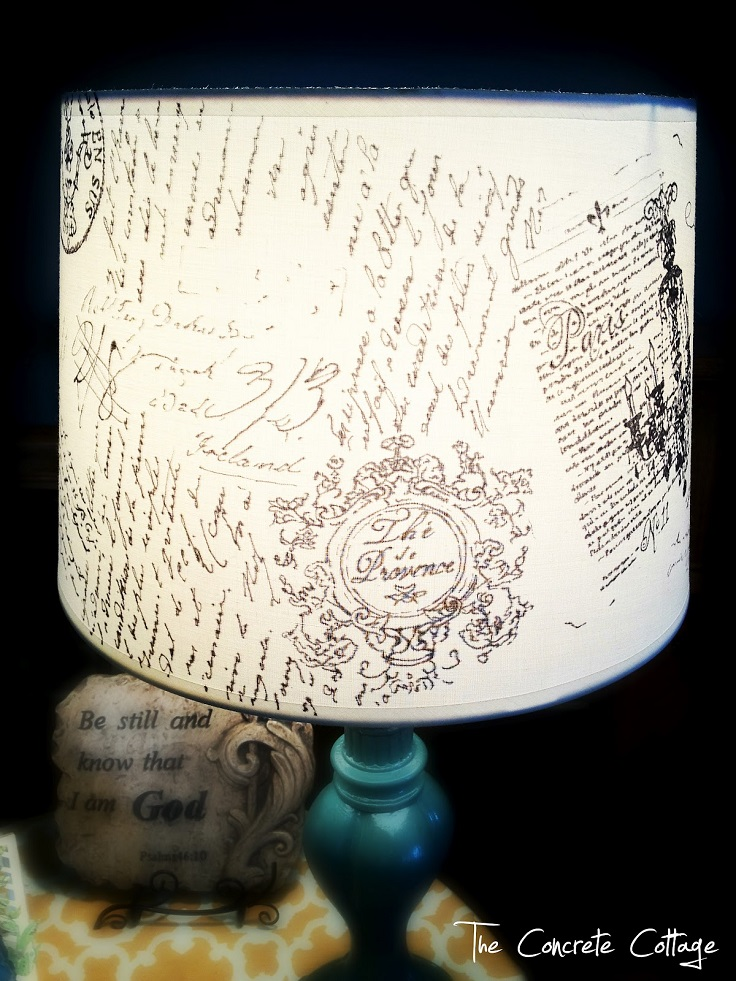 French-Script-Lamp-Shade