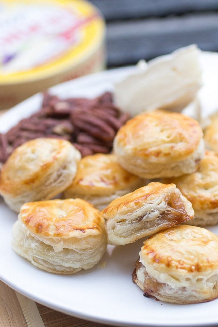 Praline-Pecan-and-Brie-Puff-Pastry-Bites