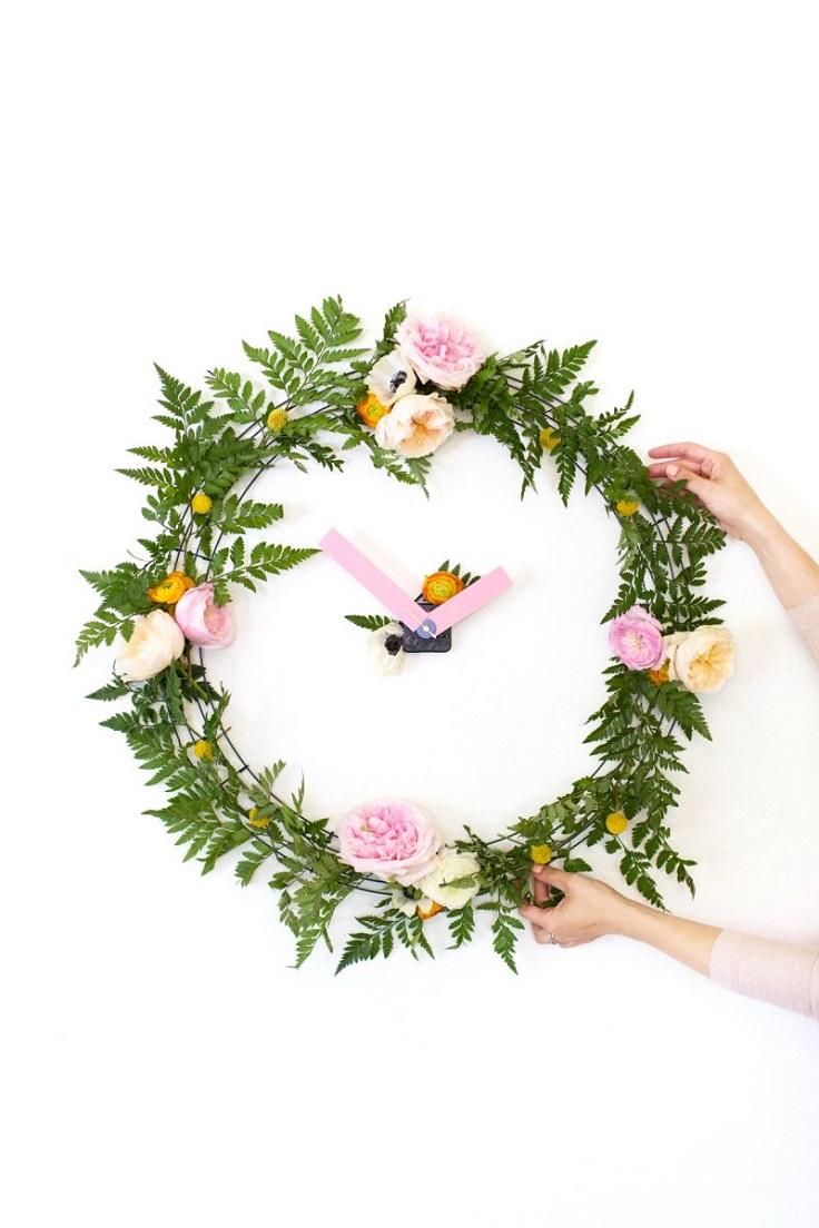 Floral-Wall-Clock
