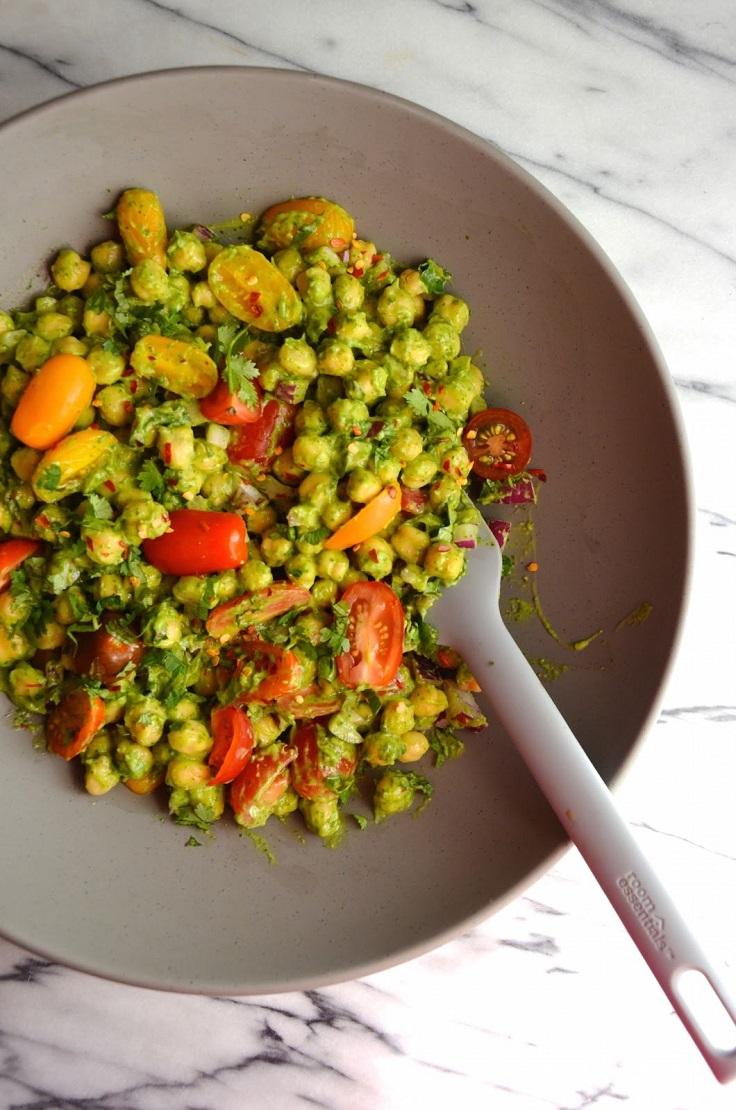 Guacamole-Chickpea-Salad