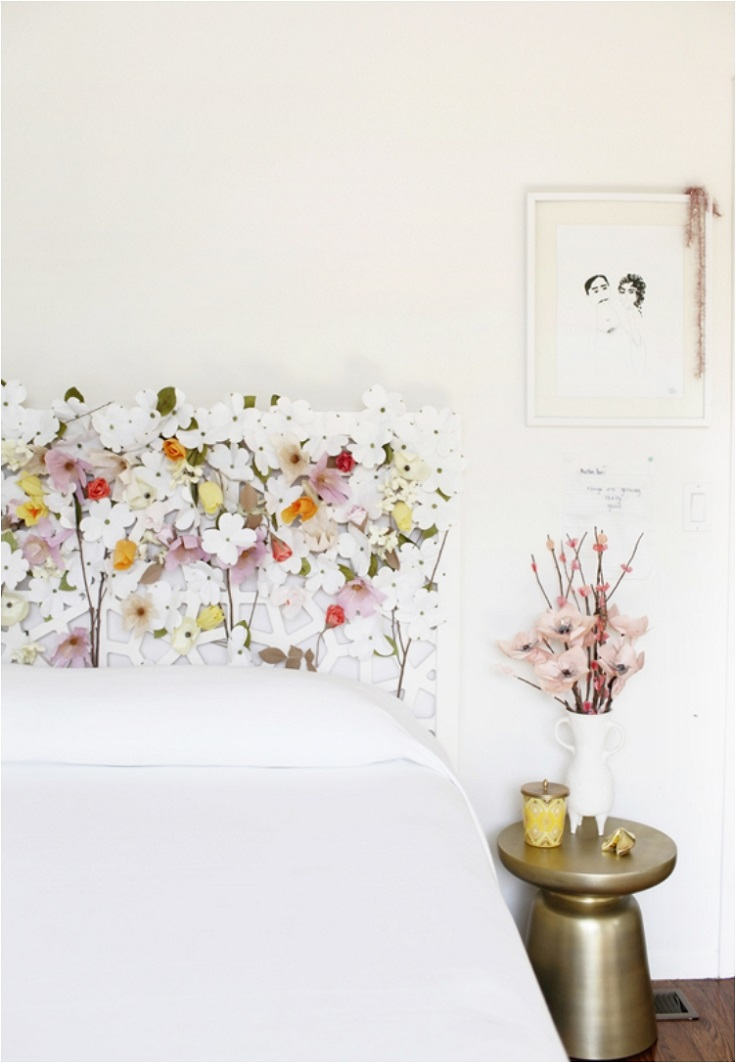 Headboard-with-Flowers