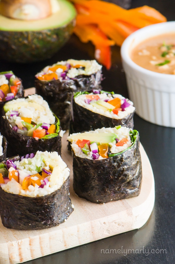 Vegan-Sushi-with-Cauliflower-Rice