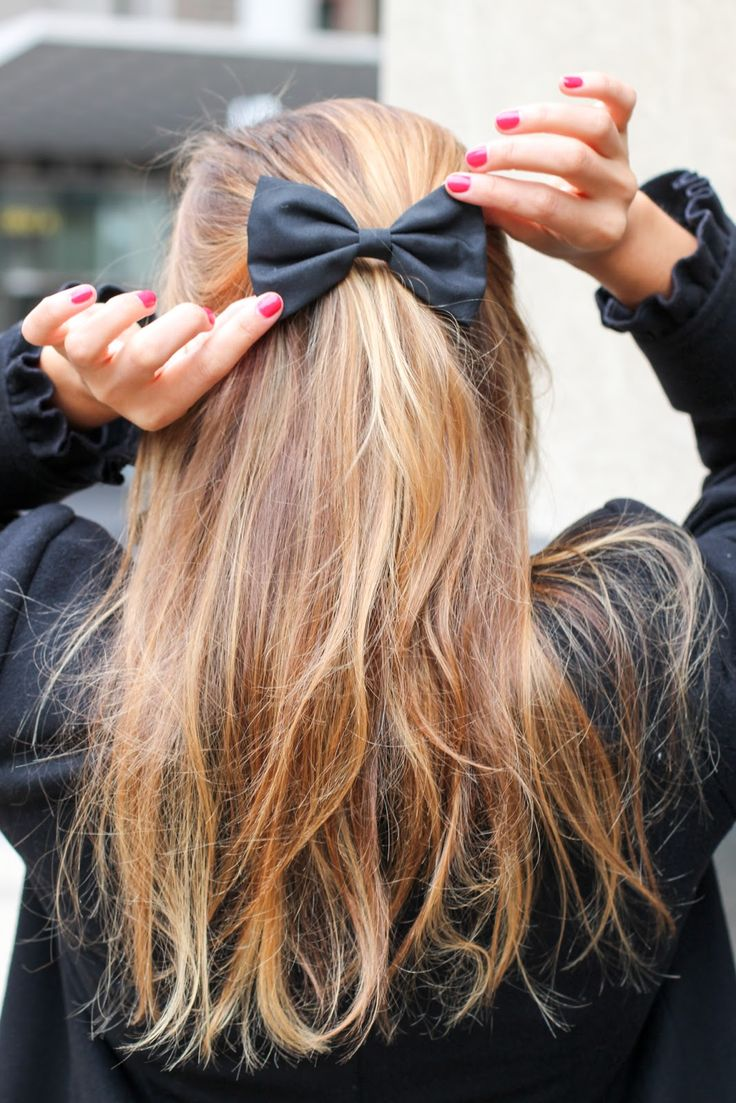 styles of hair bows top 10 easy ribbon hairstyles you are going to 5720 | Half Up Hair Bow