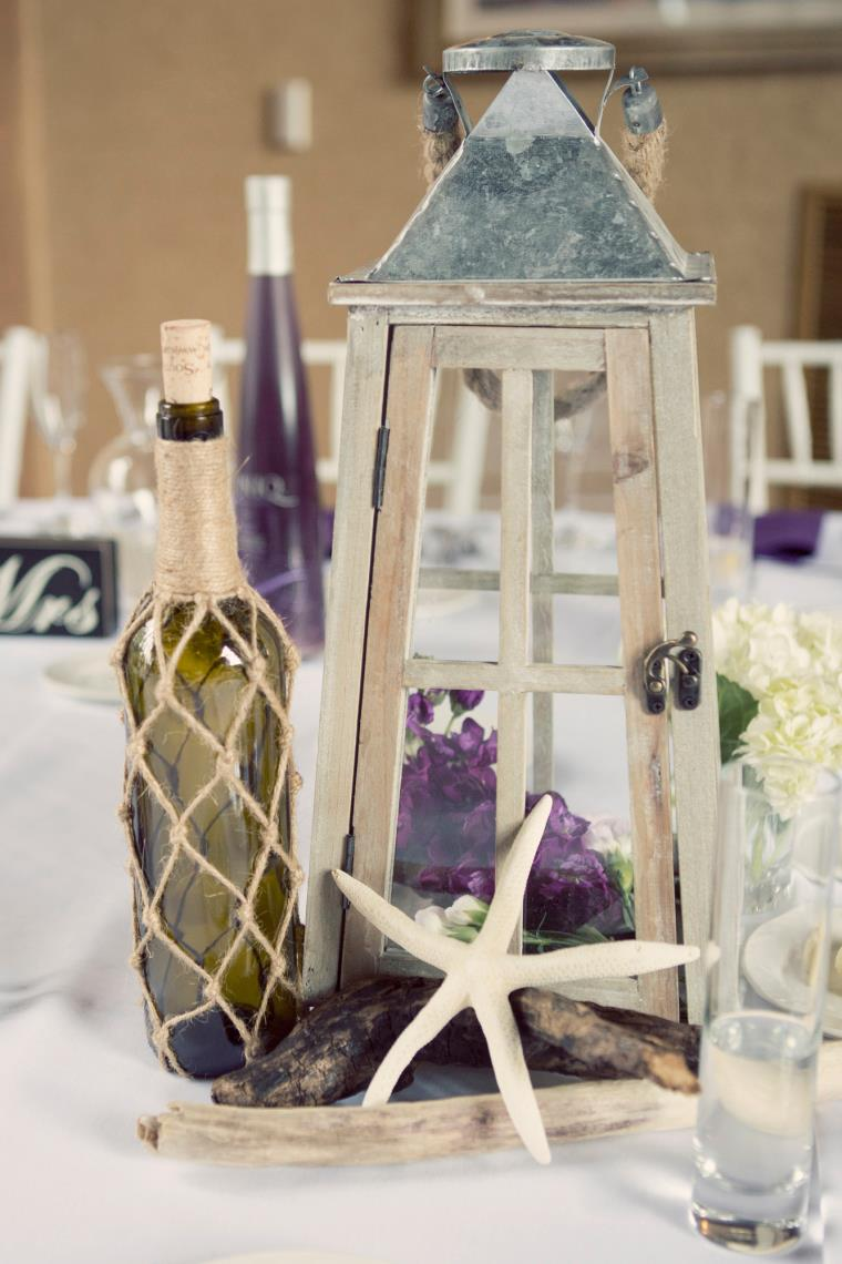 Lantern-and-Bottle-Centerpiece