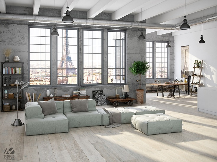 Top 10 stunning industrial interior ideas for your living for Top 10 living room interior design