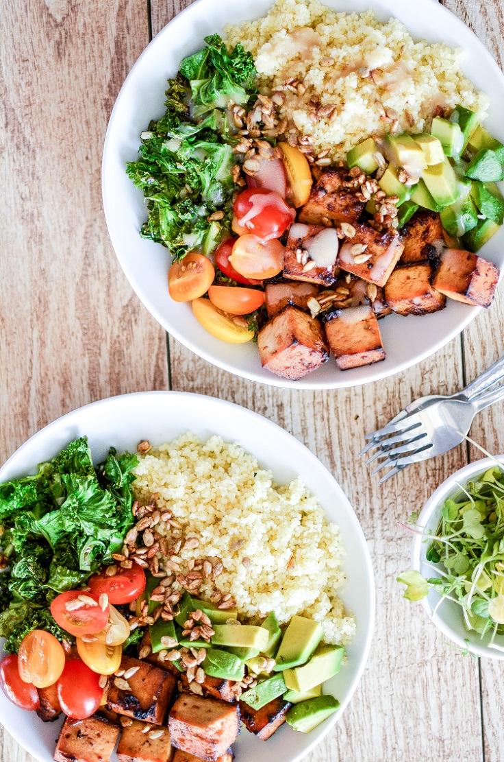 Kale-and-Couscous-Tofu-Bowls
