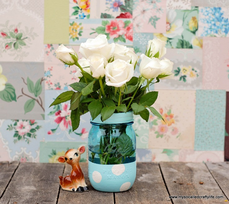 Painted-Mason-Jar-Vase
