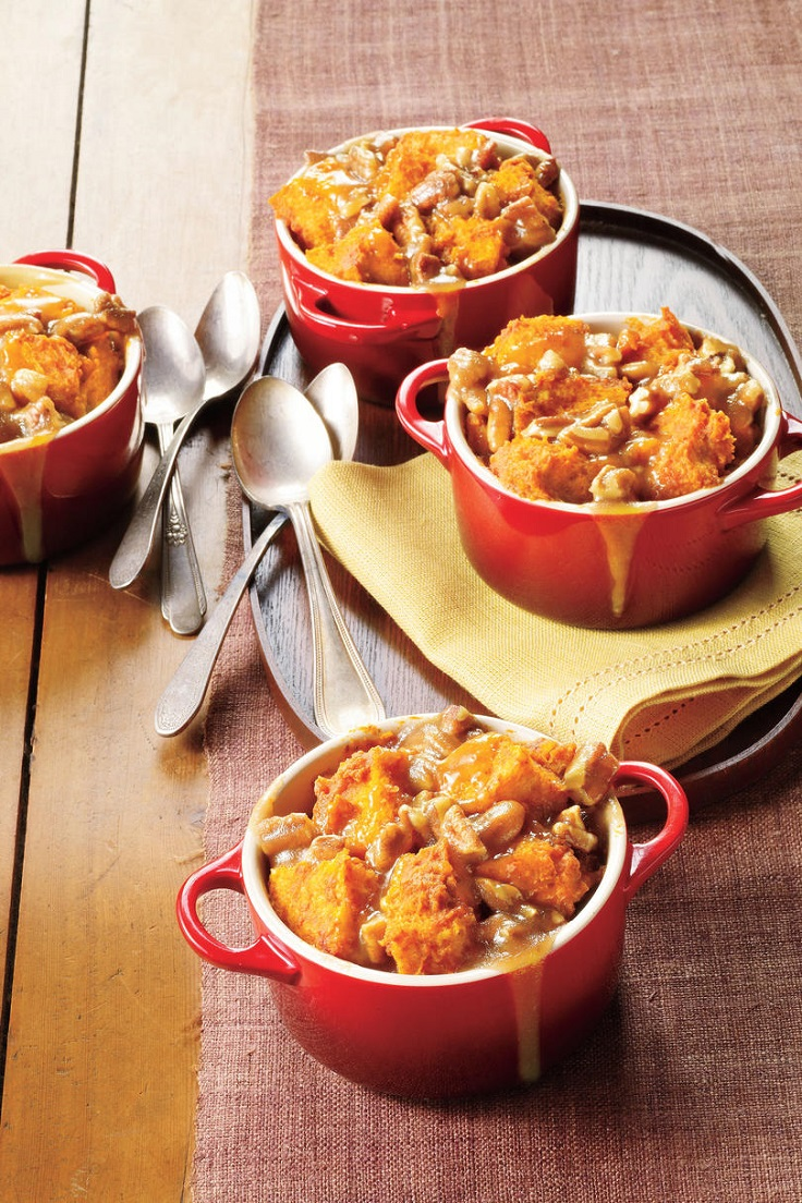 Caramel-Pecan-Pumpkin-Bread-Puddings