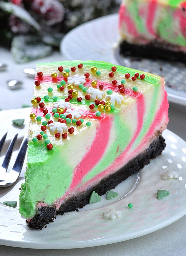 Christmas-Cheesecake-with-Sprinkles