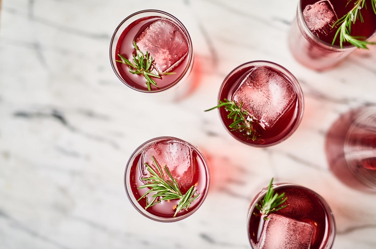 Pomegranate-Cranberry-Punch-With-Rosemary