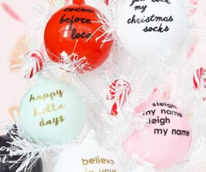 Top 10 DIY Ornaments For Your Christmas Tree