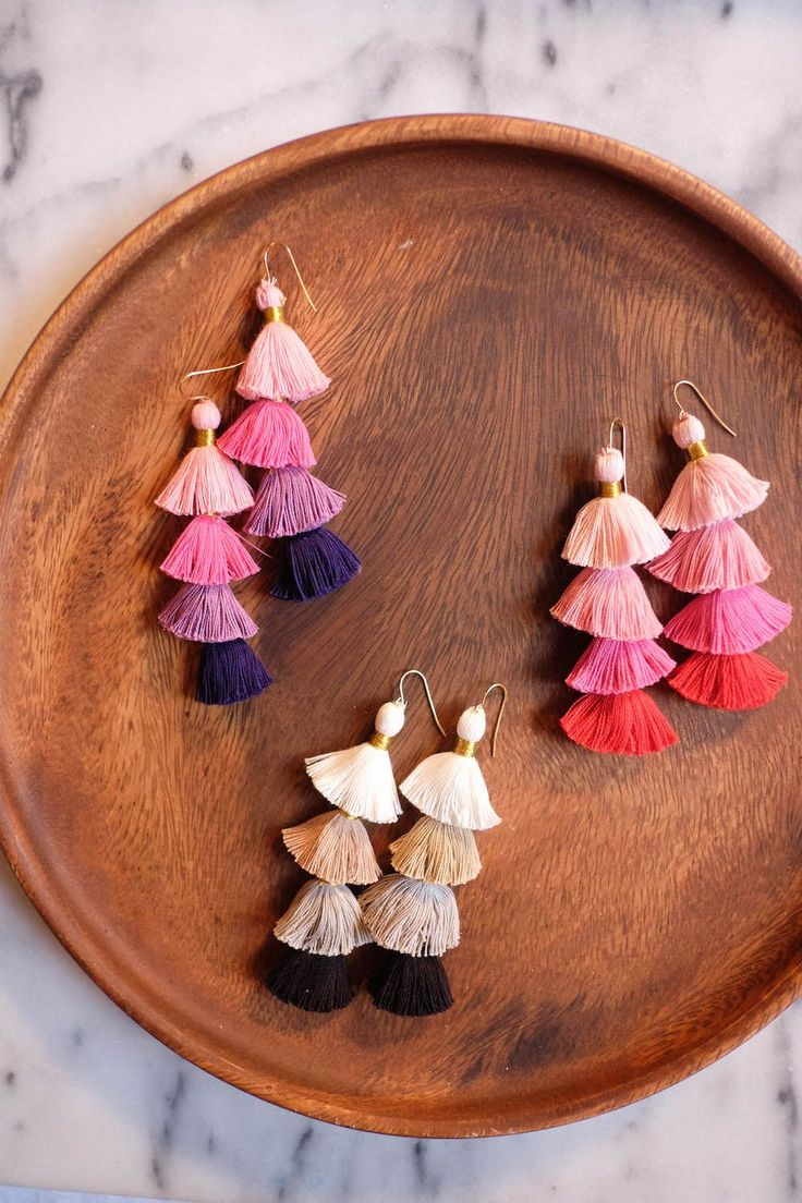 Multicolor-Tassel-Earrings