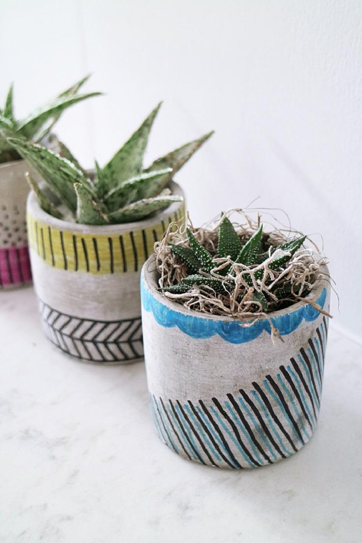 Top 10 DIY Beautiful Indoor Planters - Top Inspired