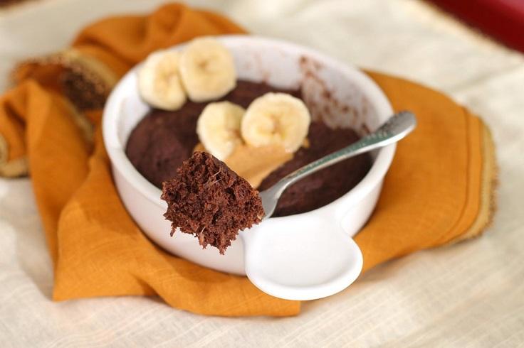 Chocolate-Peanut-Butter-Banana-Microwave-Cake