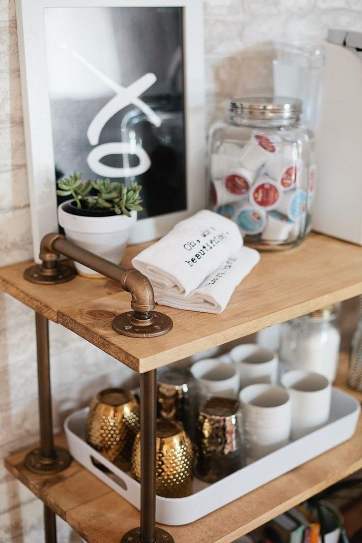 Rolling-Shelf-Coffee-Station