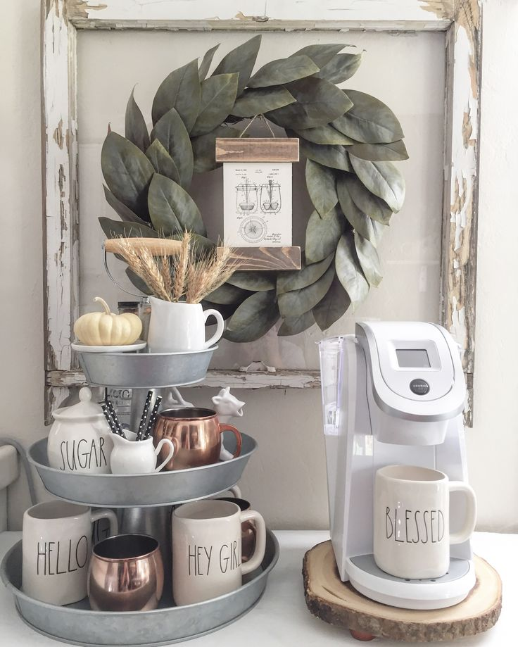 Top 10 coffee station ideas for your kitchen top inspired for Coffee bar setup ideas