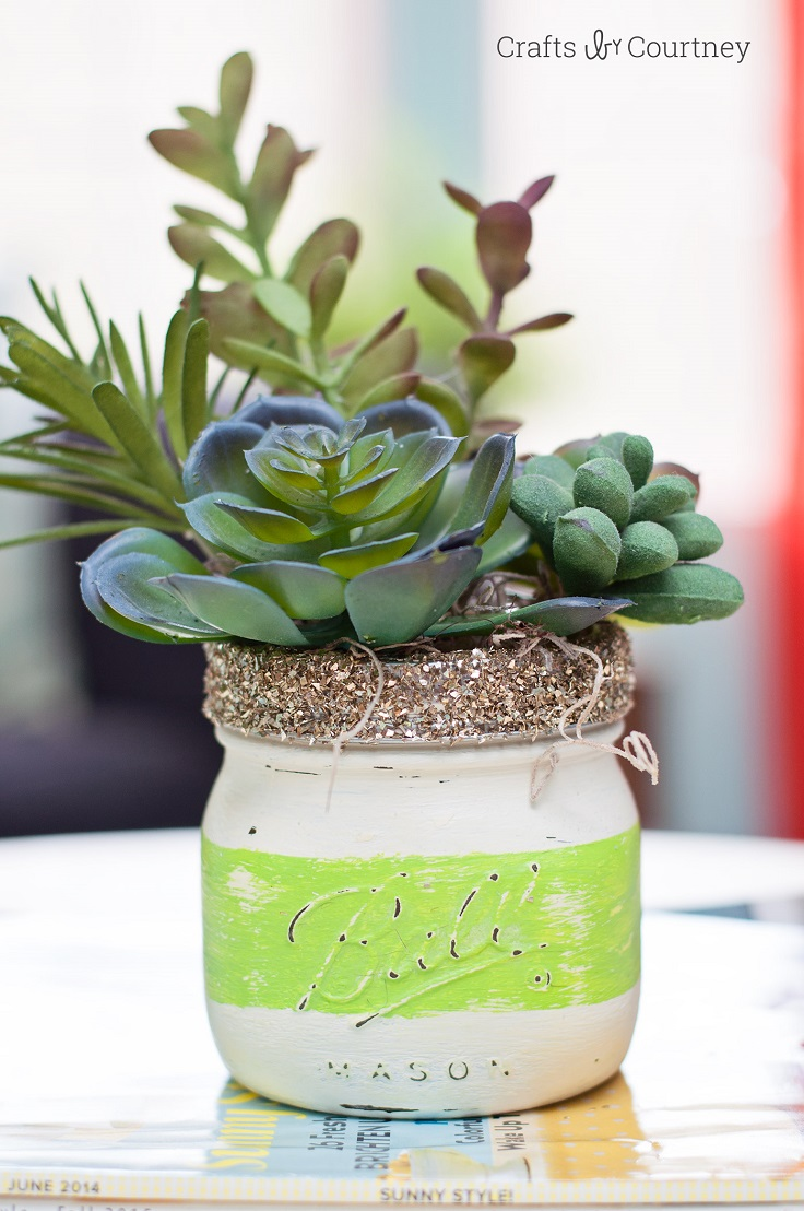 Chalk-Painted-Mason-Jar