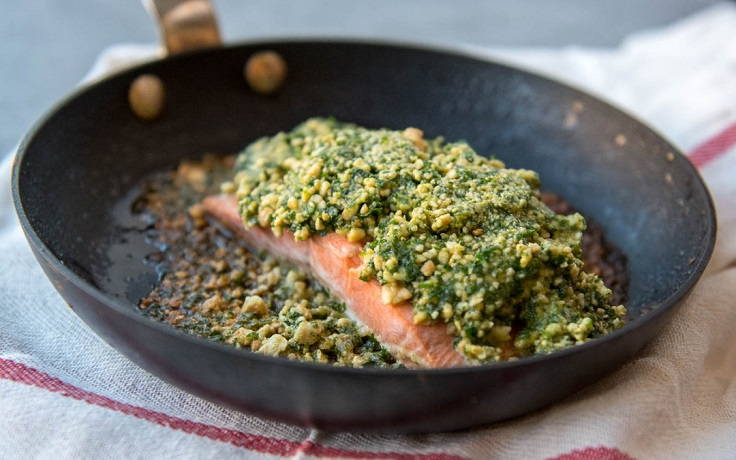 "Cashew-Crusted-Salmon-with-""Ponzu""-Sauce"