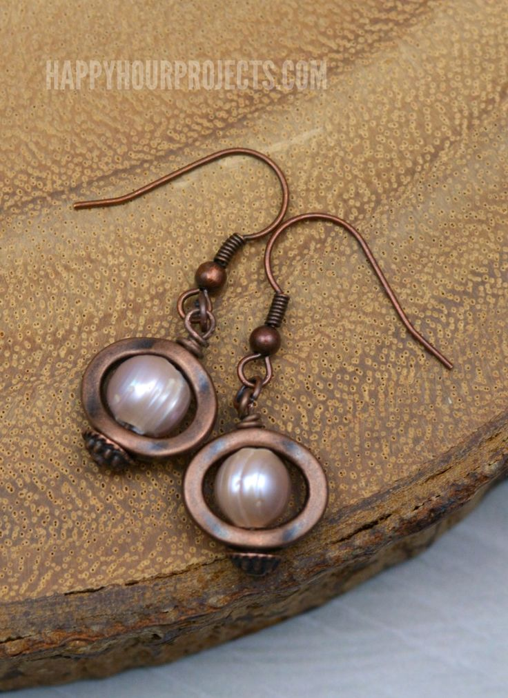 Copper-and-Pearl-Earrings