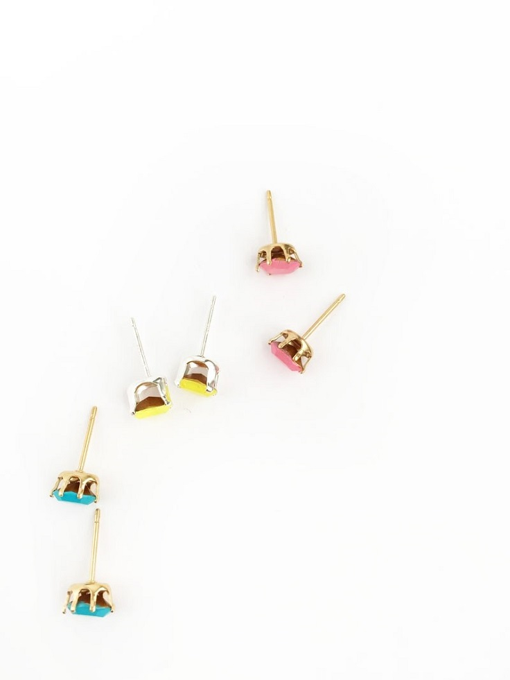 Stud-Earrings-with-Brightly-Colored-Gems