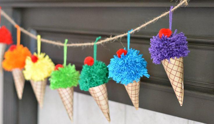 Ice-Cream-Cone-Garland